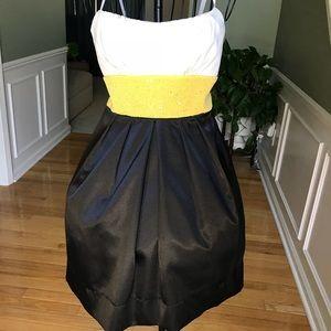 Ruby Rox 7 Black, yellow & white dress